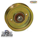 Genuine Dixie Chopper Oem Flat Idler Pulley With Center Hub 3.75