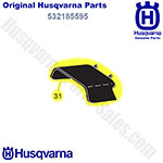 Husqvarna Deflector Clipping 21 Grey Replaces 185595 Part # 532185595