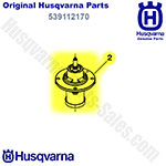 Genuine Husqvarna Oem Spindle Mandrel Assembly For Husqvarna Ez4624, Ez4824, Gt48xls, Mz52 Lawn Mowers / 539112170