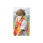 Safety Vest / Vertical Stripe F/B