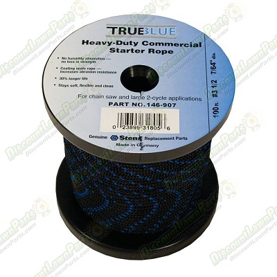 100' True Blue Starter Rope / #3 1/2 Solid Braid Replacement 100' True Blue Starter Rope / Stens 146-907