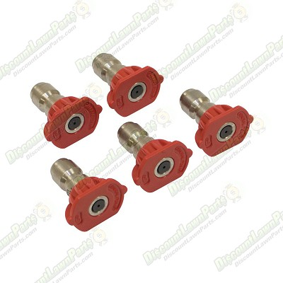 Spray Nozzle Set / 4.0 Size, Red, 5 Pack