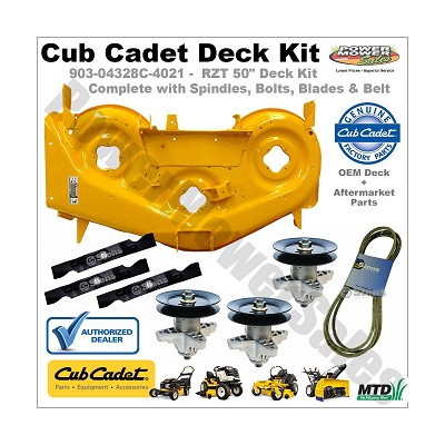 "Cub Cadet 50"" Deck Shell Replacement Kit (Yellow, Rzt) For Lawn Tractors & Others / 903-04328c-0716-Kit"