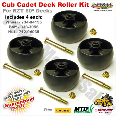Deck wheel kit for Cub Cadet RZT 50 - Includes 4 wheels & hardware