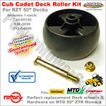 734-04155-kit - Deck wheel kit for Cub Cadet RZT 50 - Includes wheel & Hardware
