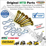 Shear & Cotter Pins (5-Pack) / MTD 738-04124A-5PK