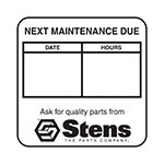 Maintenance Reminder Labels / 2 inch W x 2 inch L