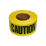 Barricade Caution Tape / 2 Mil. Black/Yellow
