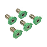 Spray Nozzle Set / 3.5 Size, Green, 5 Pack