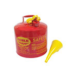 Metal Safety Fuel Can / Eagle 5 Gallon With Funnel