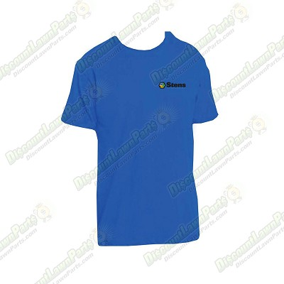 Shirt XL / DT104 Deep Royal Blue with color logo