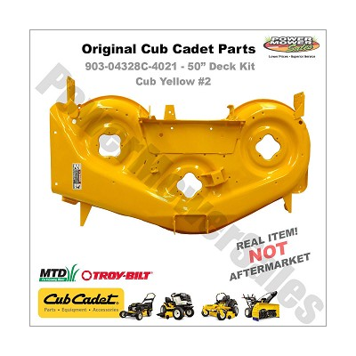 "RZT 50"" Deck Shell Replacement, Yellow  / Cub Cadet 903-04328"