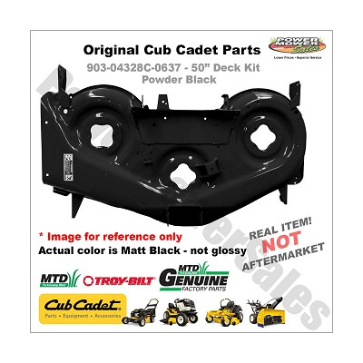 "Cub Cadet 50"" Deck Shell Replacement (Black, Rzt) For Lawn Mowers & Others / 903-04328c-0637"